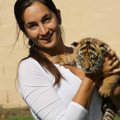 Rebecca With Baby Tiger